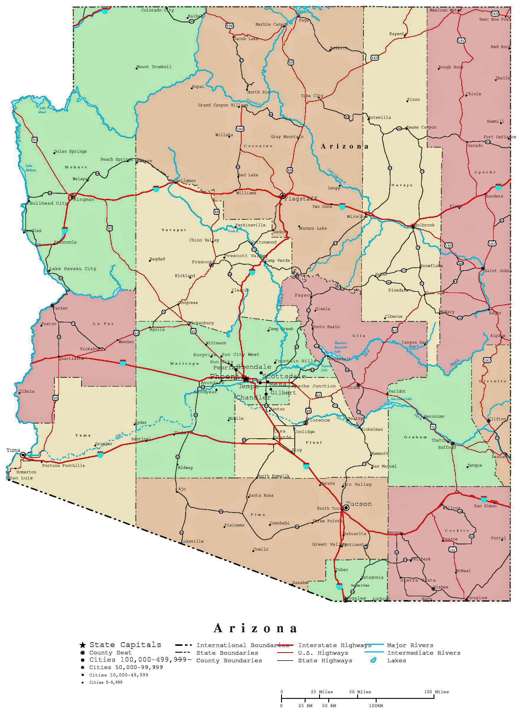 picture relating to Printable Arizona Map titled Arizona emilyberkson
