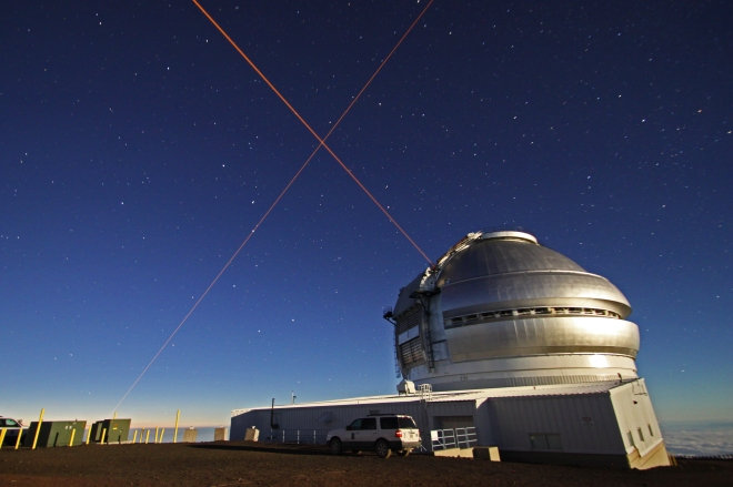 Keck Observatory was running their laser too!