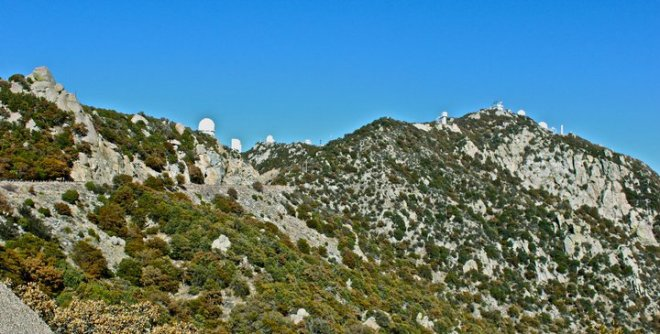 Shortly after passing Baboquivari, you will be welcomed to Kitt Peak with your first view of several of the large powerhouse telescopes on the mountain.