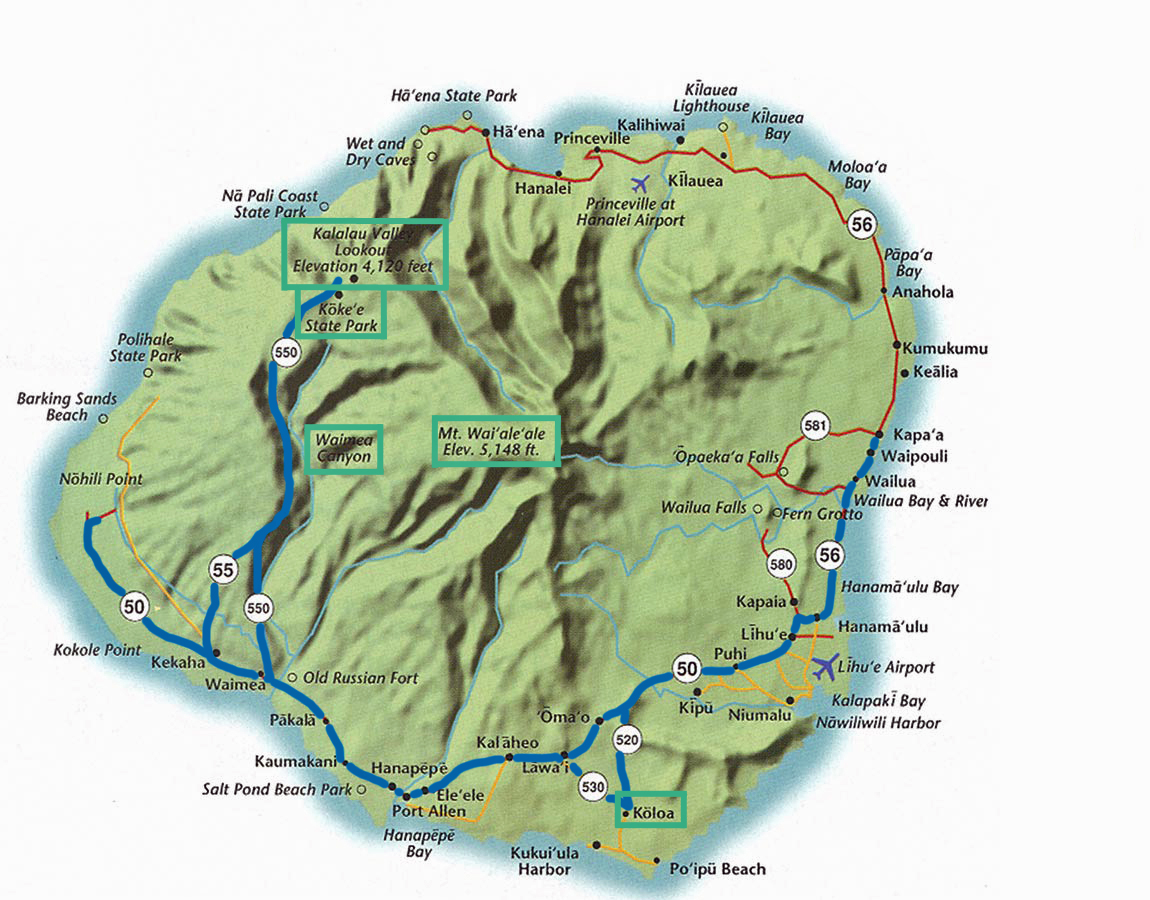 map of kauai with Day Trip Ii Waimea Canyon on 2800000064 moreover Ala Moana Beach Park together with 5094017010 as well Stock Abbildung Hawaii Karte Image57186822 also 7012385831.