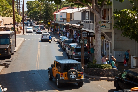 The main street of Lahaina is lined with hundreds of small stores selling everything imaginable.