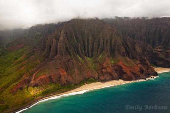 One of the many dramatic landscapes seen along the Na Pali coast.