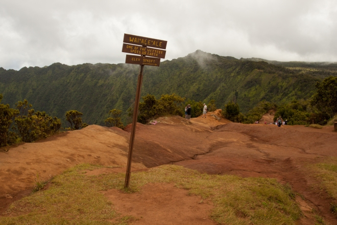 Returning once again to the Mt. Wai'ale'ale area, one of the wettest locations on Earth.