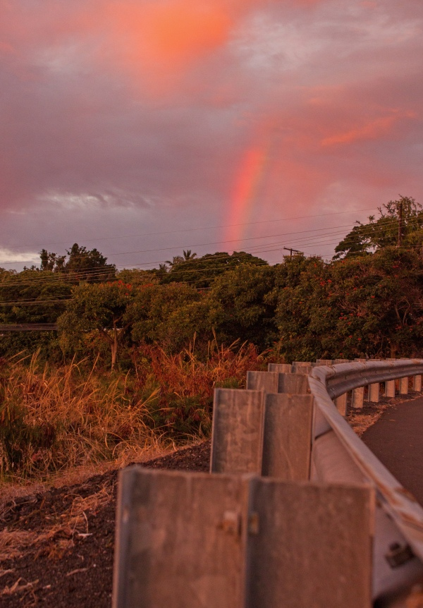 And when we turned around, surprise rainbow!
