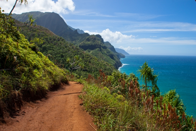 First two miles of the Kalalau Trail.