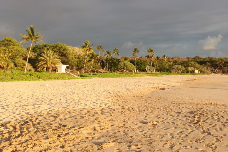 Hapuna Beach right before sunset, after it has cleared out for the day