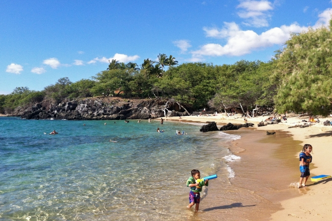 Beach 69 is a little less populated than Hapuna, but still offers easy, drive-up parking. Bonus, there's lots of shade!