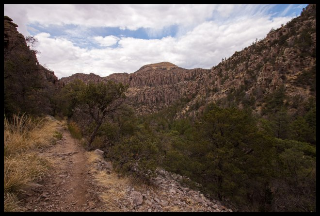 Heading into Sarah Deming Canyon.