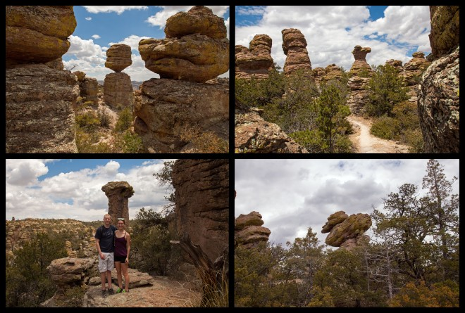 Four of the named rock formations within the park: