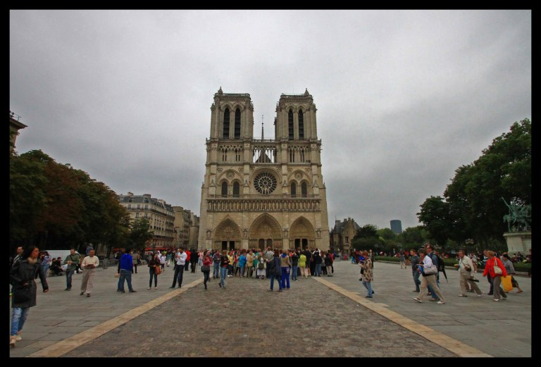 The entrance to Notre Dame Cathedral.