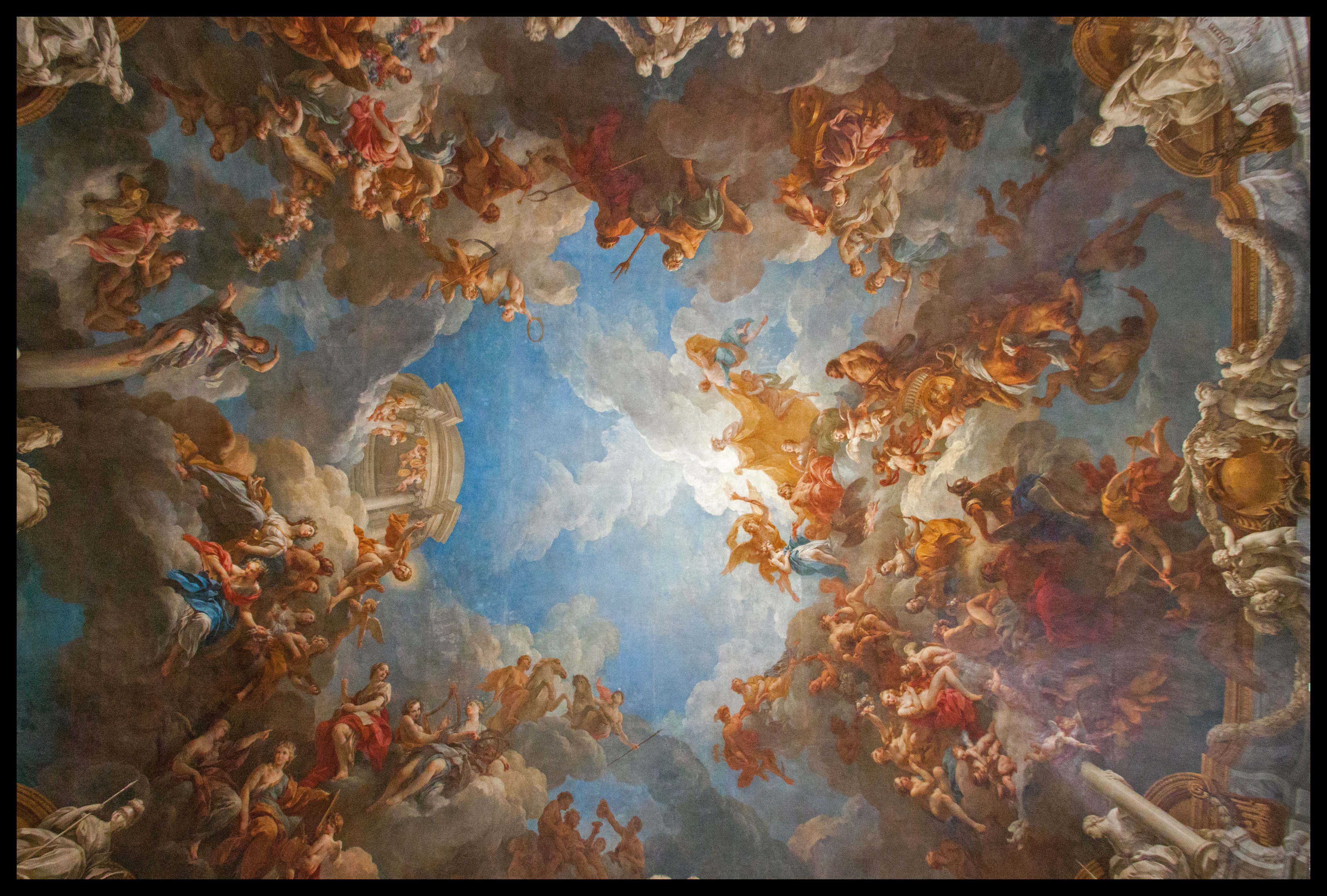 Iii ch teau de versailles emilyberkson for Painting on ceiling