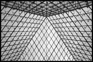 Another view from inside the Louvre pyramid.