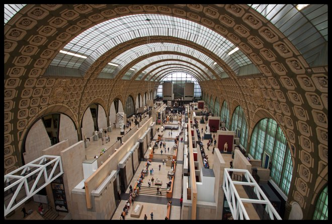 Our first view of Musée d'Orsay, from the fifth floor.