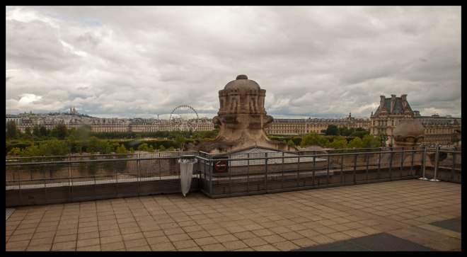 No pictures were allowed in the galleries at Musée d'Orsay, but guards didn't seem to mind pictures out of the windows, and the view was great.