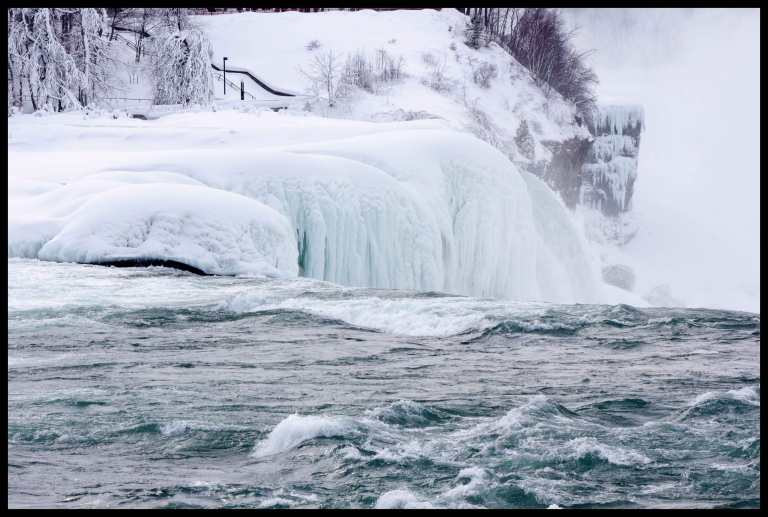 Partially frozen falls.
