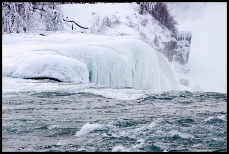 Partially frozen falls.