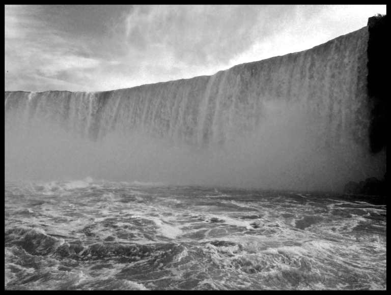 The intense Canadian falls, almost impossible to have a camera out at this point.