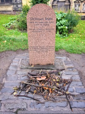 The grave of Greyfriars Bobby.