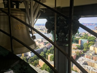 Top of the bell tower at Hauptkirche St. Michaelis.