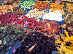 Multitude of dried fruits.