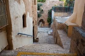 Stone alleyways.