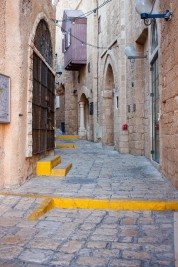 Twisting alleys of Old Jaffa.